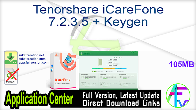 Tenorshare iCareFone 7.2.3.5 + Keygen