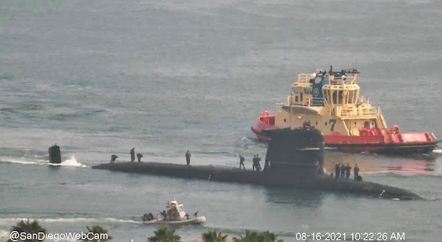 El Submarino Scorpene O'Higgins (SS-23) zarpo de San Diego para realización de ejercicios