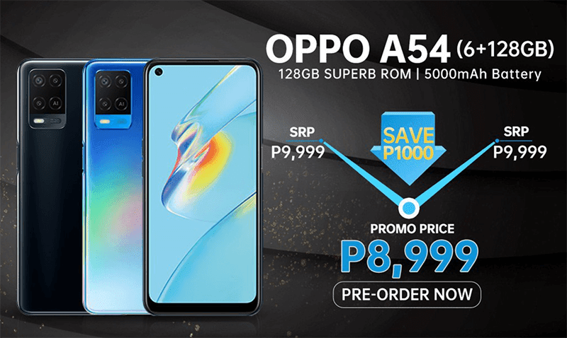 OPPO A54 6GB+128GB pre-order price online