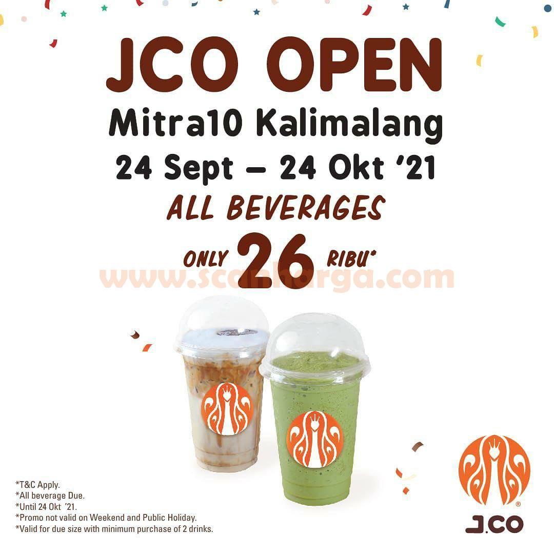 JCO Mitra10 Kalimalang Promo Opening - Semua Minuman cuma Rp. 26.000 aja