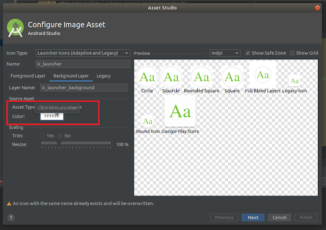 Android Studio - Text Background Layer