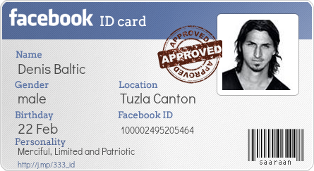 Generate Your Facebook ID Card - BONUS - Make your own fb ... - photo#33