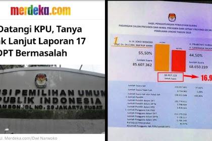 Selisih Kemenangan Jokowi 17 Juta Suara, Mirip Dengan Jumlah DPT Bermasalah Yang Dilaporkan BPN