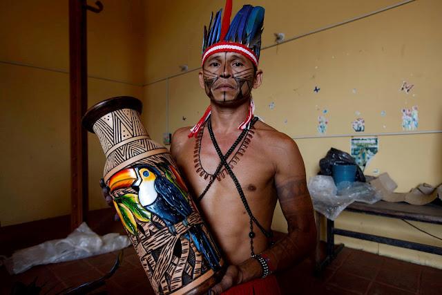 Arte Munduruku - Líder Everaldo Manhuary Munduruku-1