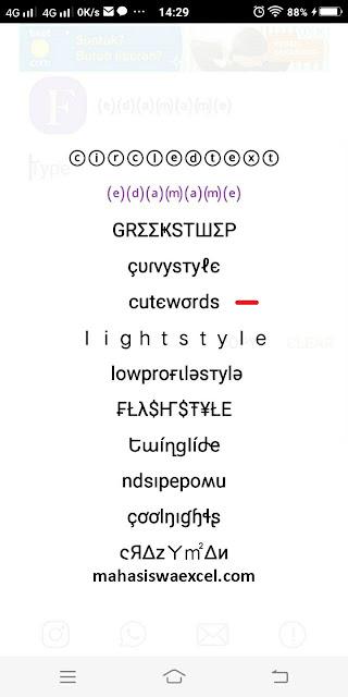 Cara Mengganti Font Whatsapp Kamu Agar Lebih Menarik dan Lucu Menggunakan Cool Fonts Application mahasiswa excel