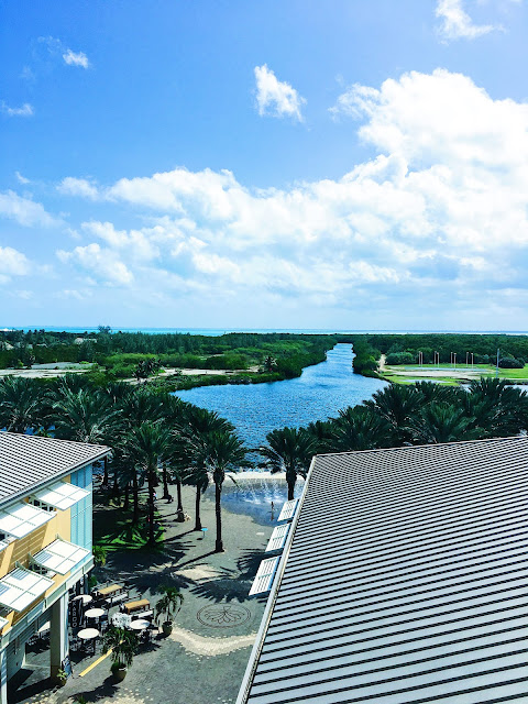 View from the Observation Tower in Camana Bay