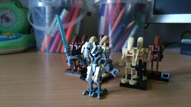 Генерал Гривус боевые дроиды сепаратистов лего звёздные войны фигурки