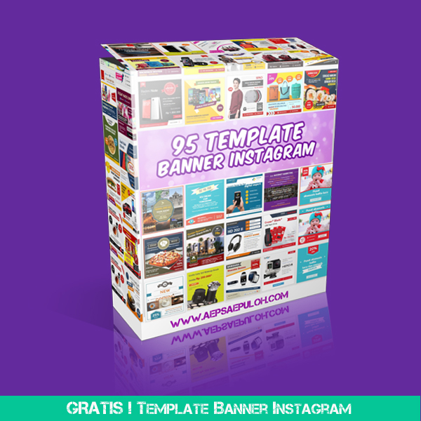 Download Gratis Template Banner Instagram