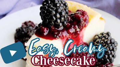 easy cheesecake Youtube video thumbnail