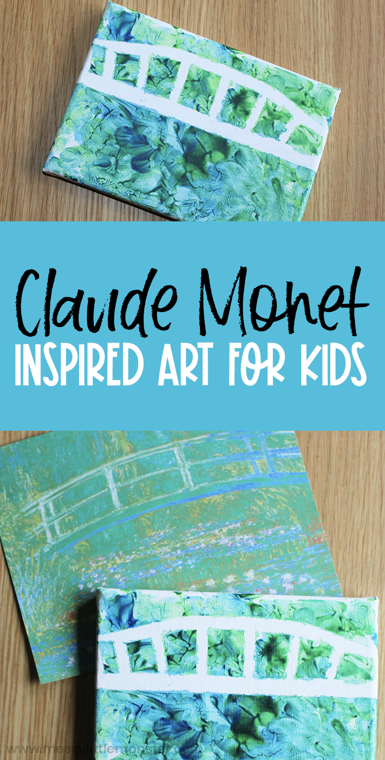Claude Monet art for kids.