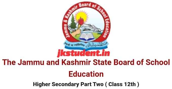 JKBOSE RESULT OF CLASS 12TH (ANNUAL/REGULAR 2020) KASHMIR DIVISION DECLARED
