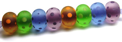 Etched Lampwork Beads