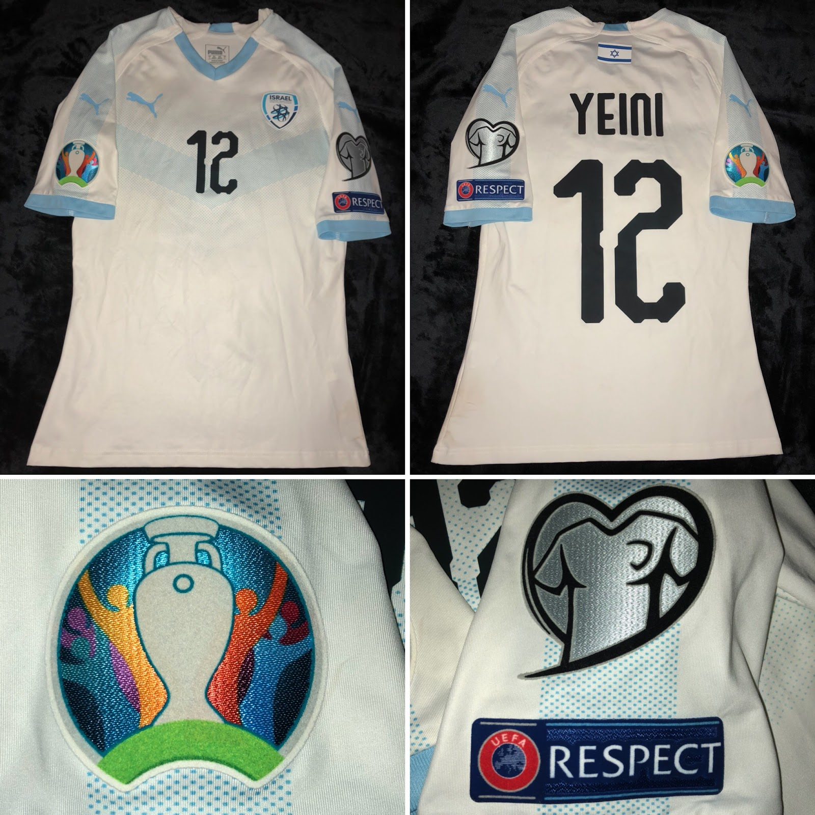 size 40 f598f d0321 Israel 2018/19 away - Sheran Yeini #12 (Euro 2020 Qualification)
