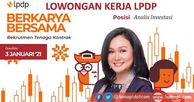 Rekrutmen Tenaga Kontrak LPDP Bulan Januari 2021