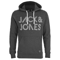 Jack & Jones Men's Scale Hoody - Dark Grey Melange