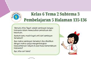 Kunci Jawaban Buku Tematik Kelas 6 Tema 2 Halaman 135-136 ...