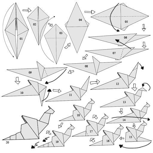 Origami Dragon (Jo Nakashima) - Instructions in English (BR) - YouTube | 512x512