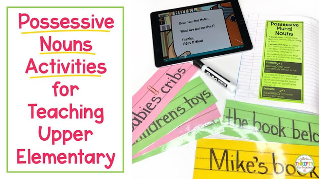 Looking for possessive nouns activities to help upper elementary students review the possessive nouns rules? Here are a few ideas & resources.