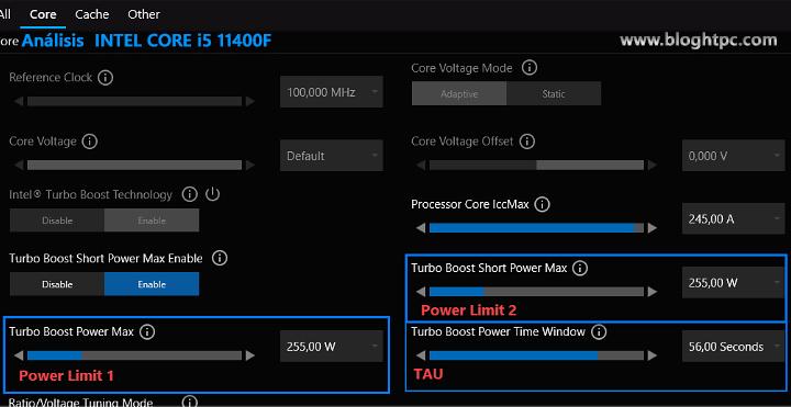 Power Limit XTU