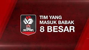 Tim yang Lolos ke Babak 8 Besar/Perempat Final Piala Menpora 2021