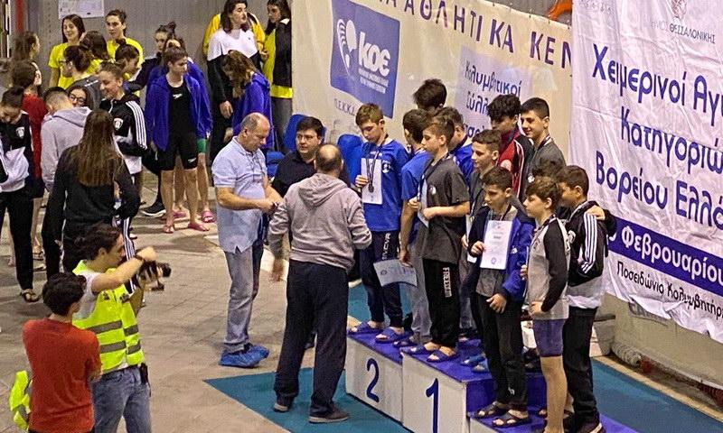 32 μετάλλια ο ΟΦΘΑ στους Χειμερινούς Αγώνες Κολύμβησης Κατηγοριών
