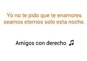Reik Maluma Amigos Con Derechos significado de la canción.