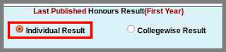 nu honours 1st year result type