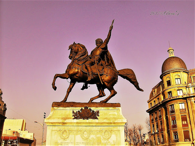 "Statue of ""Prince Michael the Brave (1876, sculptor Albert-Ernest Carrier-Belleuse)"