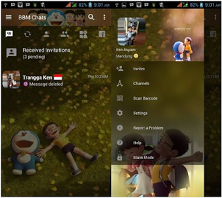 BBM MOD Doraemon Terbaru Change Background v3.2.5.12 APK Transparan