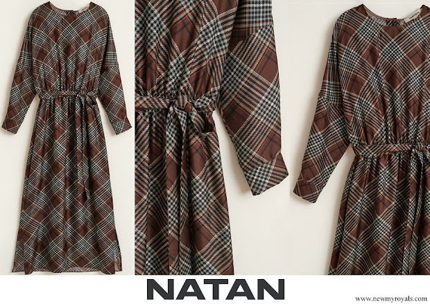 Queen Maxima wore Natan Naboo checked silk twill dress