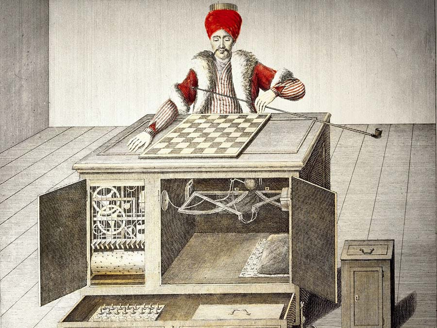 Turcul - automatul de sah inventat de baronul Kempelen