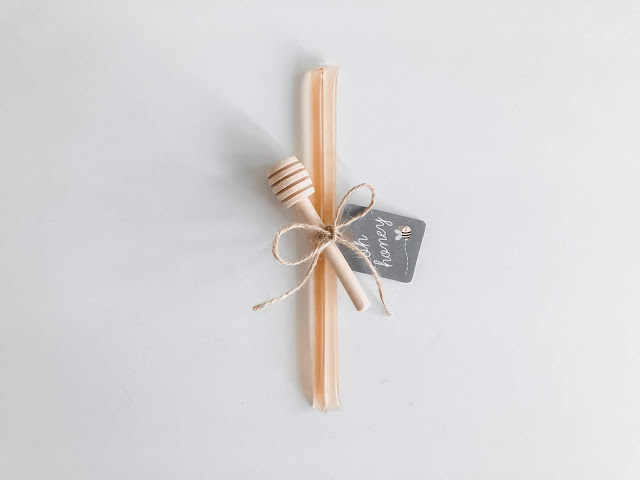Learn how to make these easy and affordable DIY honey stick party favors, great for any bee themed party!