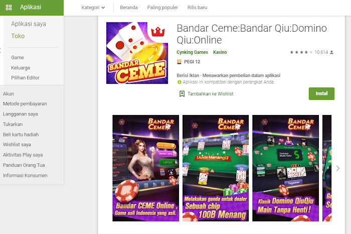 Bandar Ceme:Bandar Qiu:Domino Qiu:Online, game kartu domino paling populer.