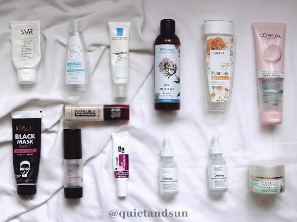 Pielęgnacja twarzy - moje ostatnie zużycia kosmetyczne