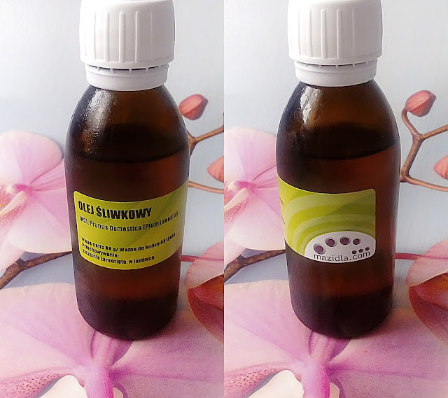 Mazidla - olej śliwkowy - pielęgnacja pachnąca marcepanem