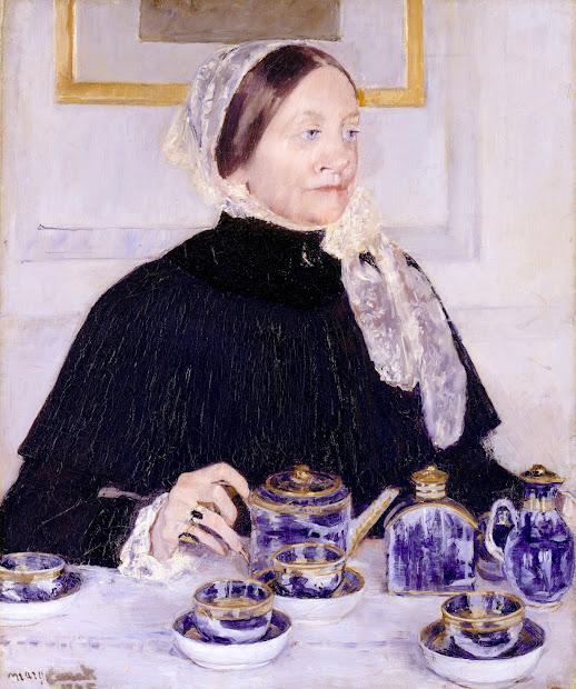 The Tea Mary Cassatt Lady at Table
