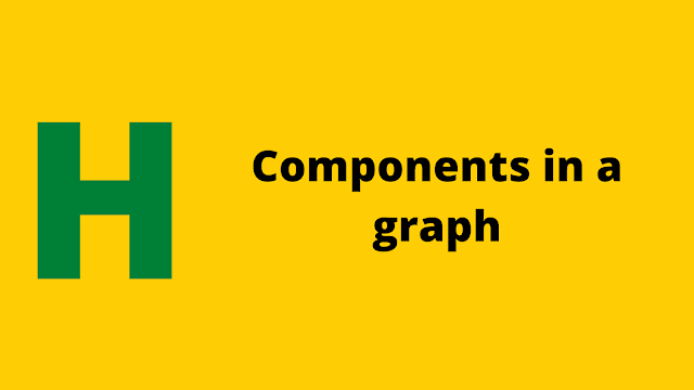 HackerRank Components in a graph problem solution
