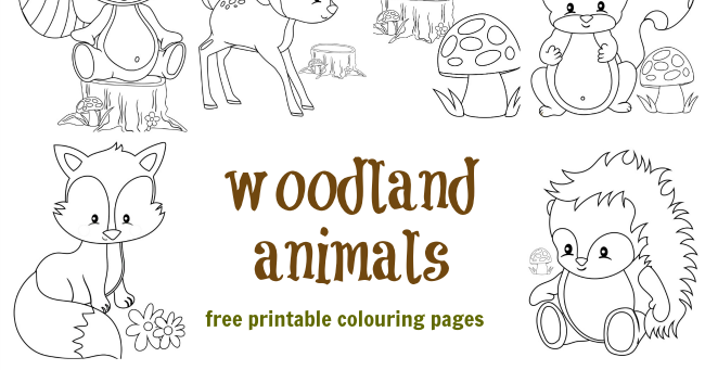 Woodland Animal Colouring Pages Messy Little Monsterrhmessylittlemonster: Coloring Pages Woodland Animals At Baymontmadison.com