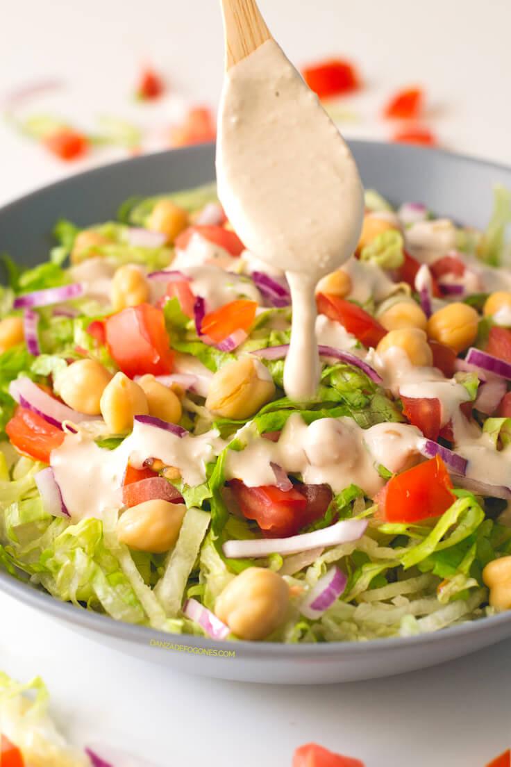 Salad with Tahini Dressing