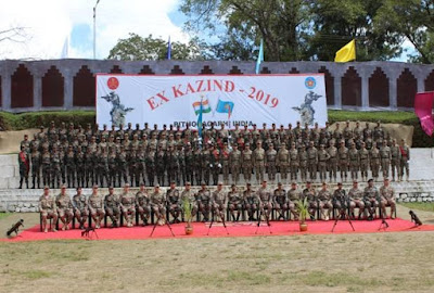 India Kazakhstan Joint Military Exercise KAZIND -2019 begins on 3 to 15 October 2019