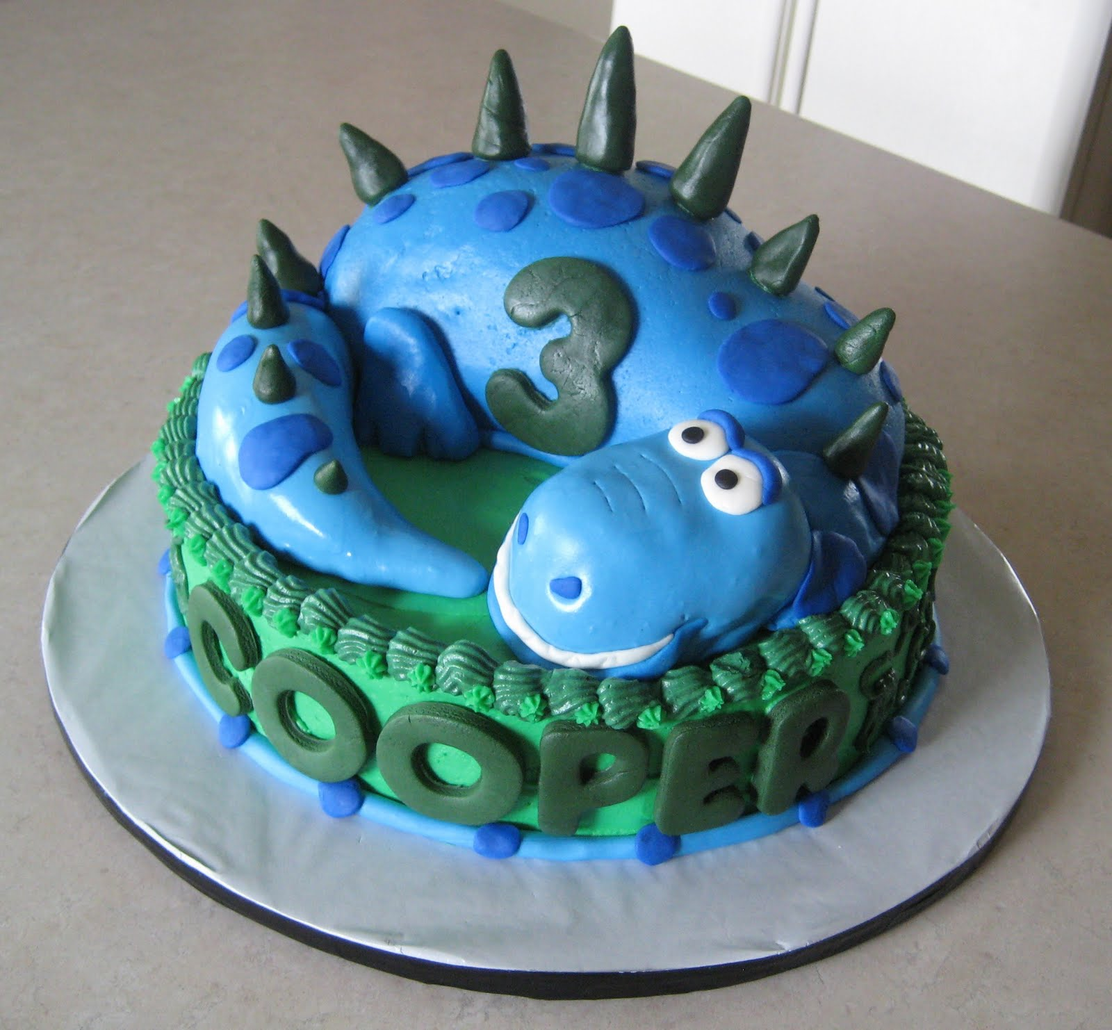 Custom Cakes By Julie: Dinosaur Cake