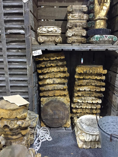 vintage architectural salvage carved platforms
