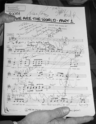 Partitura autografiada de 'We are the world'