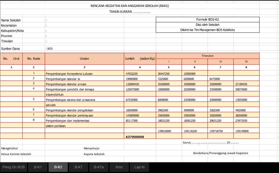 Aplikasi Rkas Bos Terbaru 2016 Info Bawel