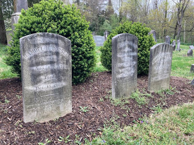Damaged headstones