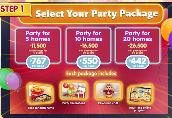 Jollibee Virtual Party Packages