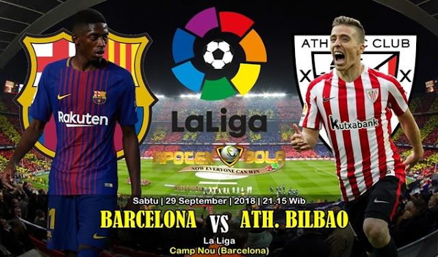 Prediksi Barcelona vs Athletic Bilbao 29 September 2018