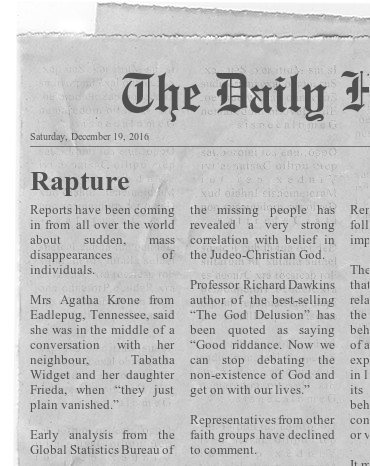 Funny Spoof News - Rapture Picture