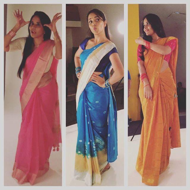 Anasuya Bharadwaj Hot Saree Pictures