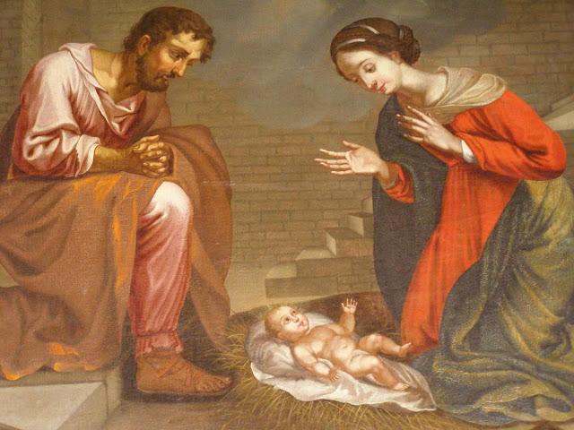 nativité, peinture - église de Saint Galmier @kt42